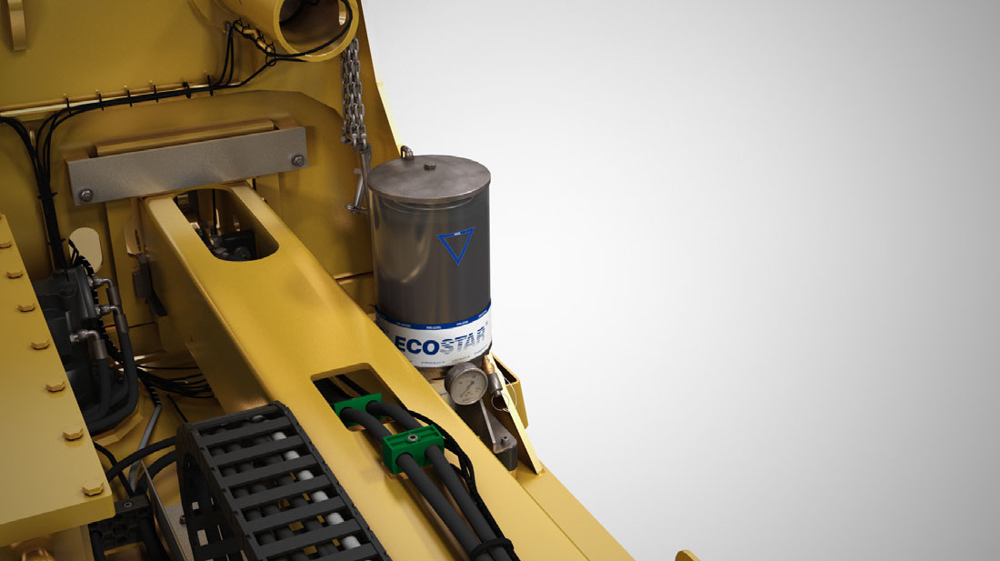 Container Spreader Stinis Automatic Greasing System